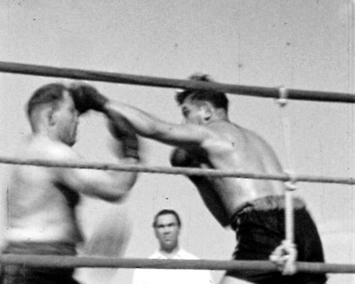 Boxkampf mit Ringrichter Max Schmeling 3
