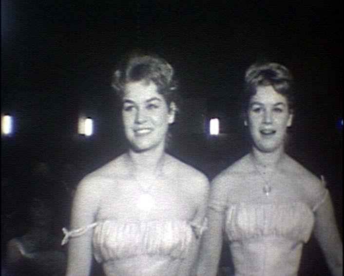 Filmball im Hotel Reis 1958 mit den Kessler Zwillingen