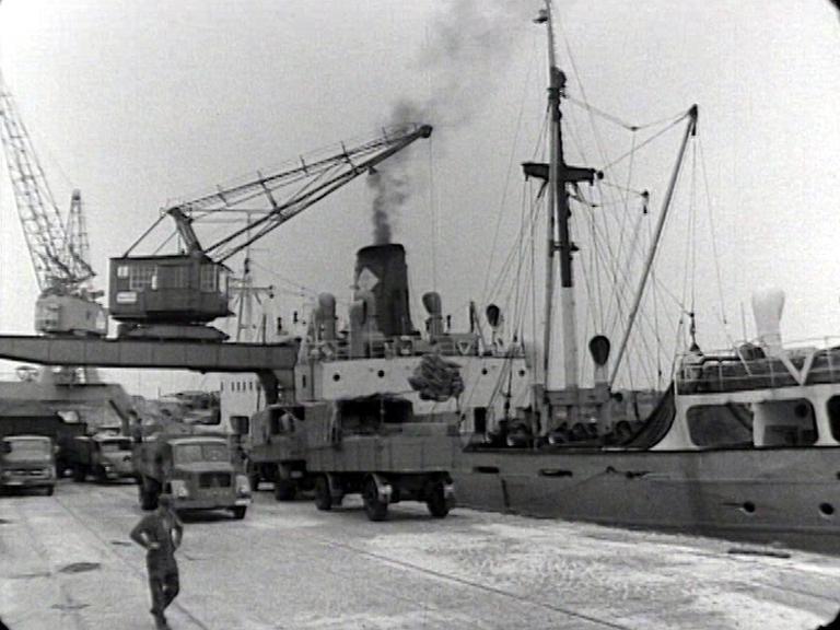 Hafen Verladearbeiten