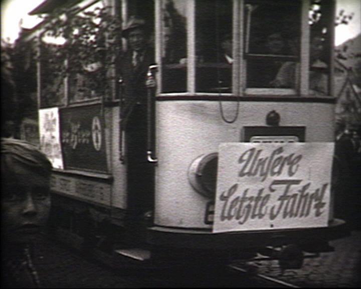 Letzte Fahrt der Straßenbahn