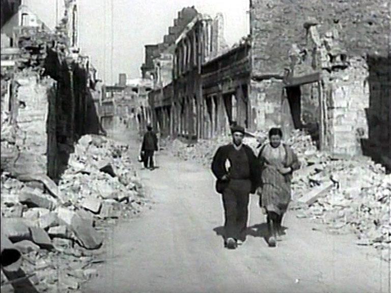 Stadt in Trümmern