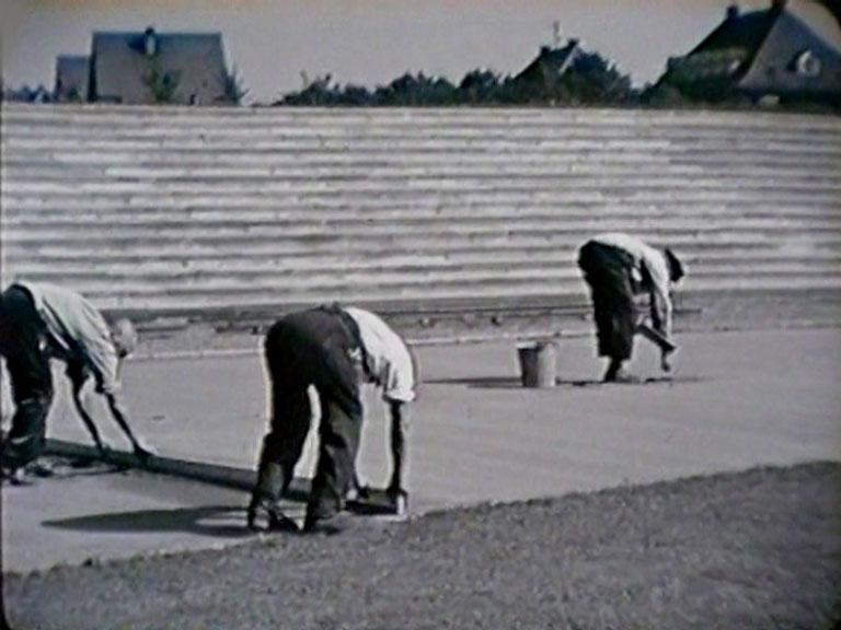 Bau des Wormatia Worms Stadion